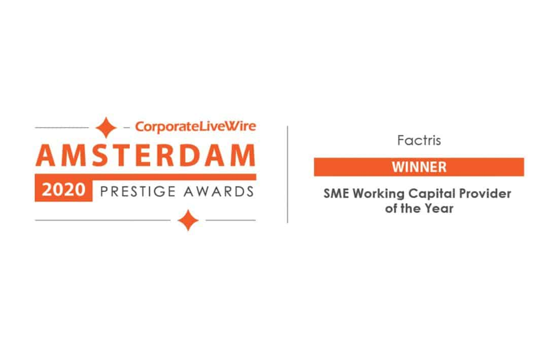 factris is the SME working capital provider of the year