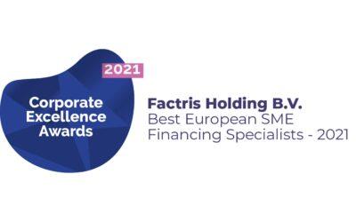 "Factris wins ""Best European SME Financing specialists 2021"" award"