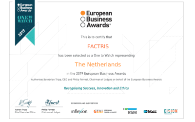 Factris named as one of One to Watch for EBA