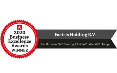 Best Alternative SME Financing Solutions Provider 2020 – Europe