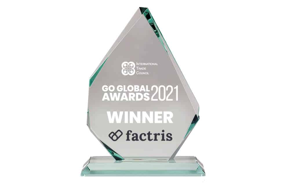Factris receives 1st Place in the category of Trade Finance at the 2021 Go Global Awards
